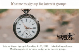 Sign up for interest groups